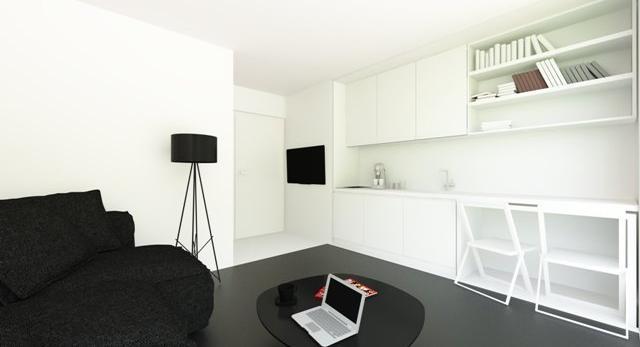 Kawalerki i małe mieszkania. Trzy sposoby na małe wnętrze - zobacz pomysły biura architektonicznego Bebiuro