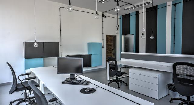 Jedno z wnętrz siedziby grupy D35 w SOHO Factory