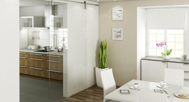 Drzwi przesuwne do małego mieszkania. Współczesna architektura wnętrz